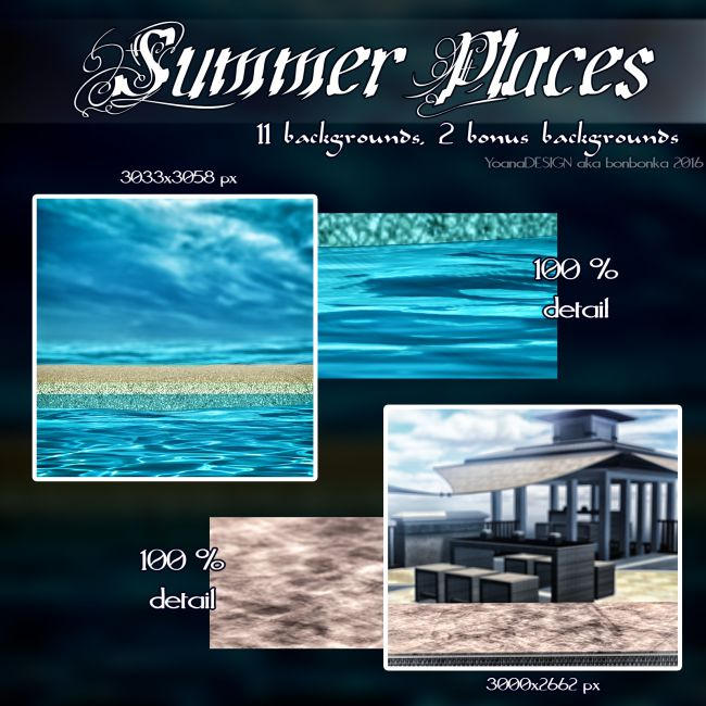 Summer Places 2D Backgrounds