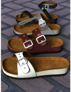 Summer Sandals Volume 1 for Genesis 2 & Genesis 3 Female(s)