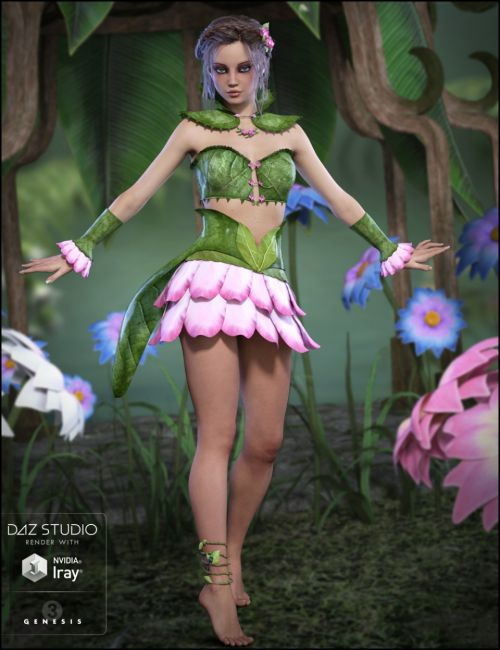 Gossamer Outfit for Genesis 3 Female(s)