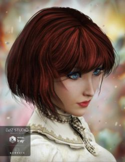 Razor-Cut Bob Hair for Genesis 3 Female(s)