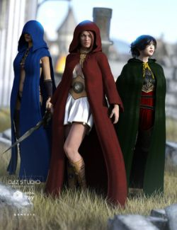 Medieval Cloaks for Genesis 3 Female(s)