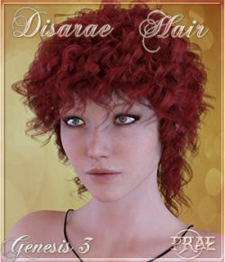 Prae-Disarae Hair For Genesis 3