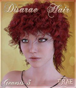 Prae-Disarae Hair For Genesis 3