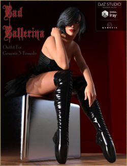 Bad Ballerina HD Outfit for Genesis 3 Female(s)