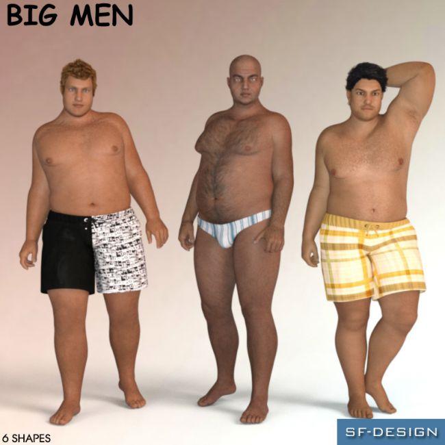 Big Men - Shapes for Genesis 3 Male