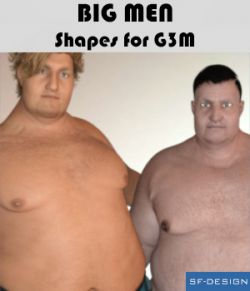 Big Men - Shapes for Genesis 3 Male