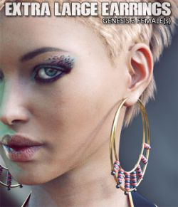 Extra Large Earrings for Genesis 3 Female(s)