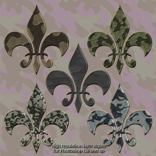 Metallic Cammoflage Styles