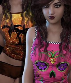 Sublime Couture Top & Shorts Genesis 3 Female(s)