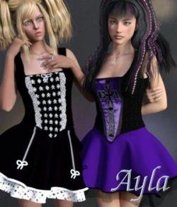 Ayla Dress & Jewels for G3F