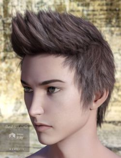 Ryo Hair for Genesis 2 & 3 Male(s)