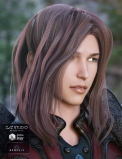 Akira Hair for Genesis 3 Male(s)
