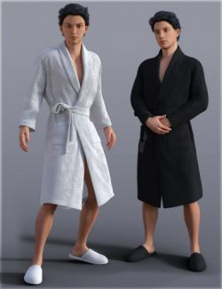H&C Bathrobe Set for Genesis 3 Male(s)