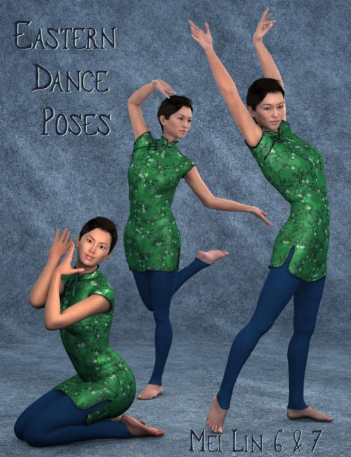 Eastern Dance Poses for Mei Lin 6 and 7