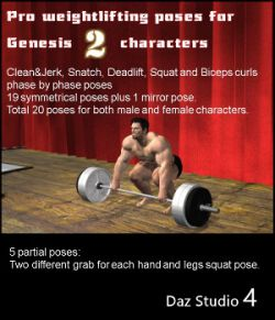 Weightlifting Pro Poses for Genesis 2 characters