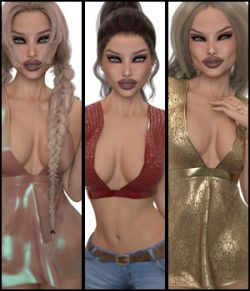 VERSUS- Fashion Blizz Flowy Sheer Top for Genesis 3 Female(s)