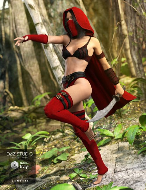 Secret Poison Outfit for Genesis 3 Female(s)
