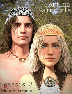 Fortuna Hair for Genesis 3 Male(s) and Female(s)