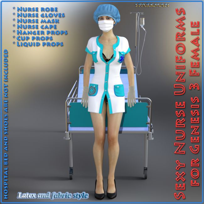 Sexy Nurse Uniform for Genesis 3 Female(s)