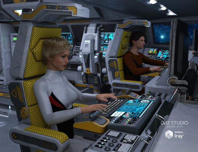 Sci Fi Cockpit Interior 3d Models For Poser And Daz Studio