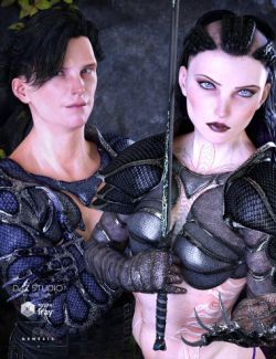 Eagle-Guard Armor for Genesis 3 Female(s) and Genesis 3 Male(s)