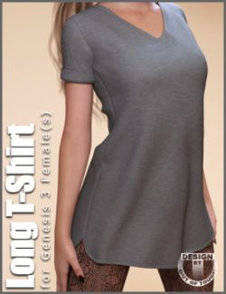 Fashion Blizz- Long T-Shirt for Genesis 3 Female(s)