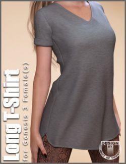 Fashion Blizz- Long T-Shirt for Genesis 3 Female(s)