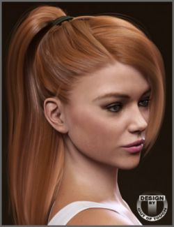Rochelle Ponytail Hair for Genesis 3 Female(s)