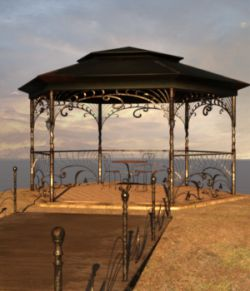 Old Gazebo for Daz Studio Iray