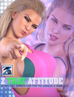 Z That Attitude- Morph Dial Expressions for the Genesis 3 Female(s)