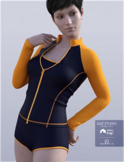 H&C Zip Front Rash Guards for Genesis 3 Female(s)