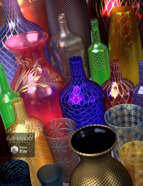 Ornate Glass Iray Shaders