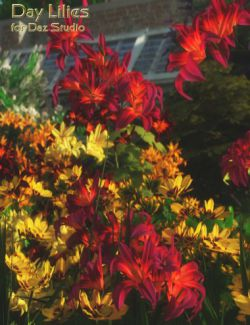 Day Lilies for Daz Studio