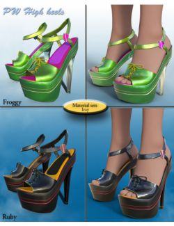 PW High Heels for Genesis 3 Female(s)