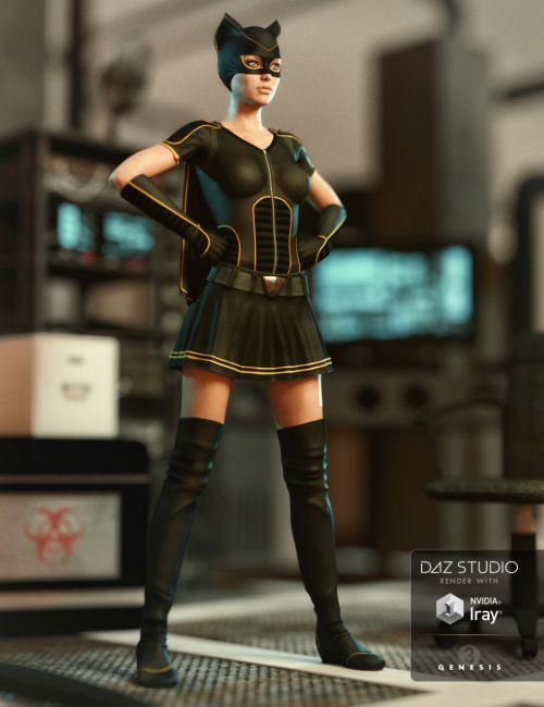 Superhero Add-On for Super Bodysuit Genesis 3 Female(s)