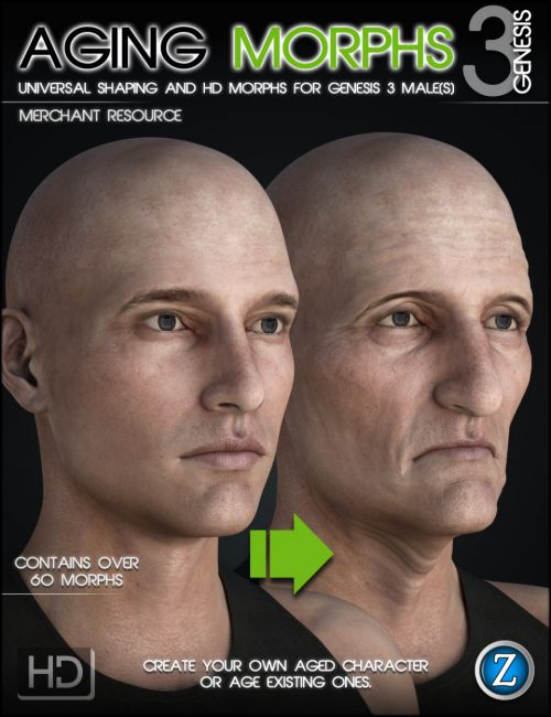 Aging Morphs 3 Merchant Resource for Genesis 3 Male(s)
