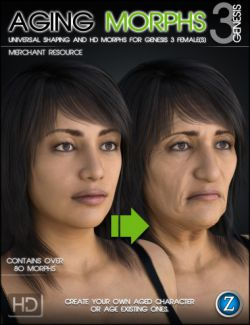 Aging Morphs 3 Merchant Resource for Genesis 3 Female(s)