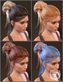 Everyday Updo Hair and OOT Hairblending 2.0 Texture XPansion