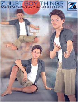Z Just Boy Things- Poses for Tween Ryan 7 and Genesis 3 Male