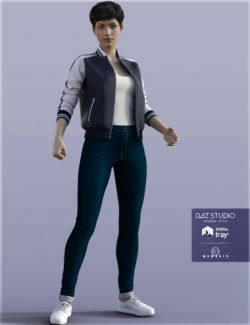 H&C Baseball Jackets Outfit for Genesis 3 Female(s)