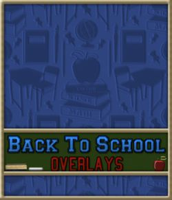 Back To School Seamless Transparent Overlays