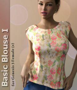 Basic Blouse I for Genesis 3 Female(s)