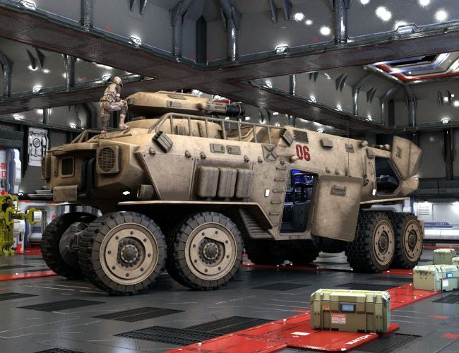 Heavy Mobile Command Post 3d Models For Poser And Daz Studio