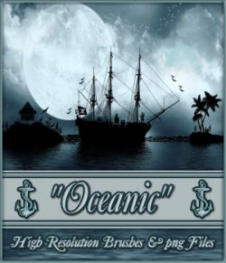 Oceanic Nautical Brushes and Png Files Pack