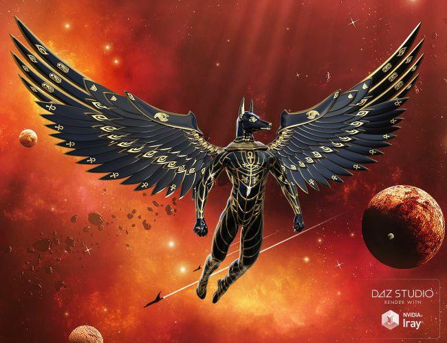 Wings of horus for genesis 3 3d models for poser and daz studio of horus for genesis 3 sciox Choice Image