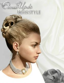 Classic Updo Hairstyle for Genesis 3 Female(s)