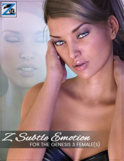 Z Subtle Emotion- Morph Dial Expressions for the Genesis 3 Female(s)