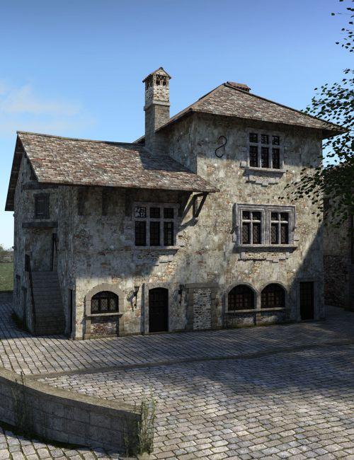 Perouges Medieval Village 3d Models For Poser And Daz