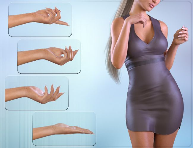 z posing hands for the genesis 3 female s 3d models for poser and