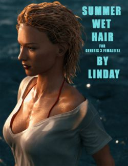 Summer Wet Hair for Genesis 3 Female(s)
